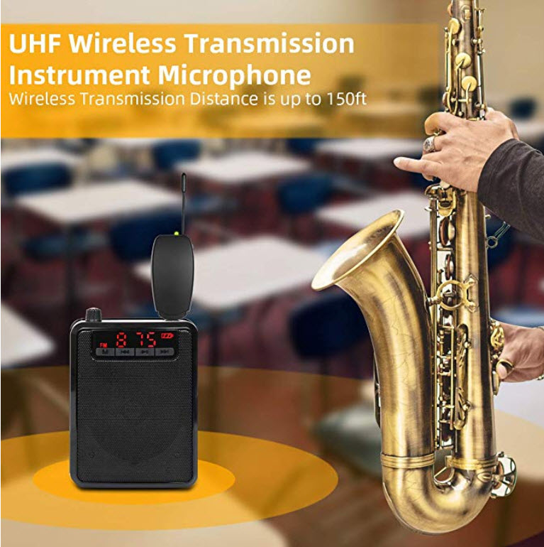 WIRELESS MICROPHONE SAXOPHONE , VIOLIN
